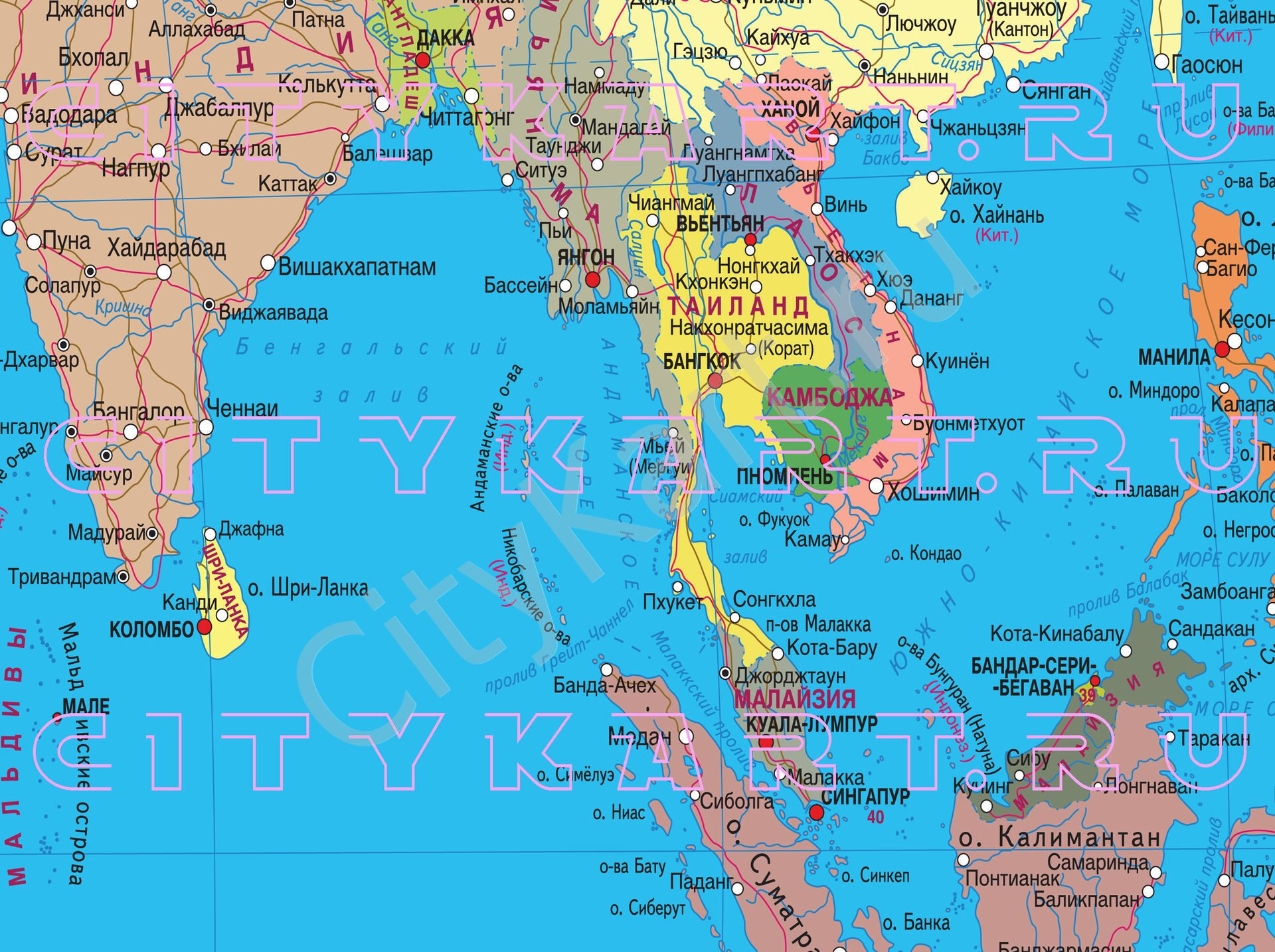 Хайнань карта мира